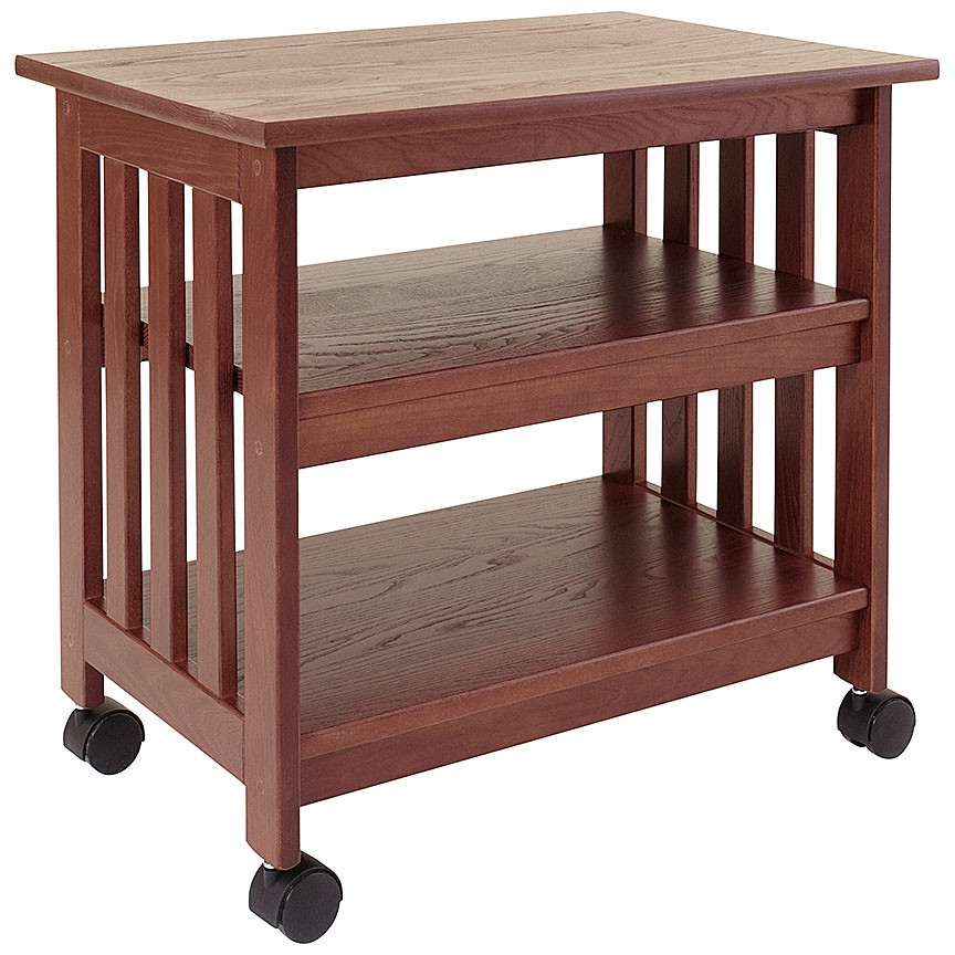 stand bamboo desktop shelf furniture supplies printer products office
