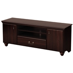 Traditional Style TV Stand in Dark Mahogany Finish - Fits TVs up to 60-inch