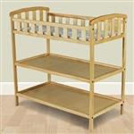 天然木质婴儿家具换尿布台,带安全护栏