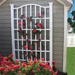 Ft花园格子白色乙烯基与拱顶