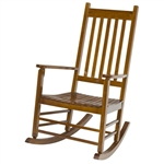 Outdoor Rocker Mission Style Natural Wood Rocking Chair