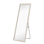 Champagne Full Length Leaning 65 x 22 Ornamental Filigree Mirror