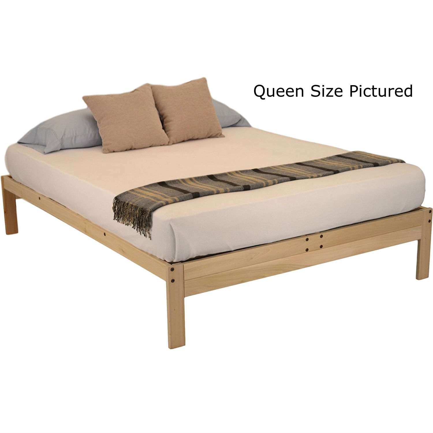 Twin Xl Solid Wood Wood Platform Bed Frame Made In Usa Fastfurnishings Com