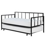 双人大尺寸重型金属沙发床,带滚开脚架床