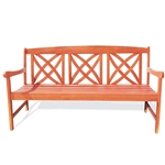 Outdoor Weather Resistant Eucalyptus Wood 5-ft Garden Bench