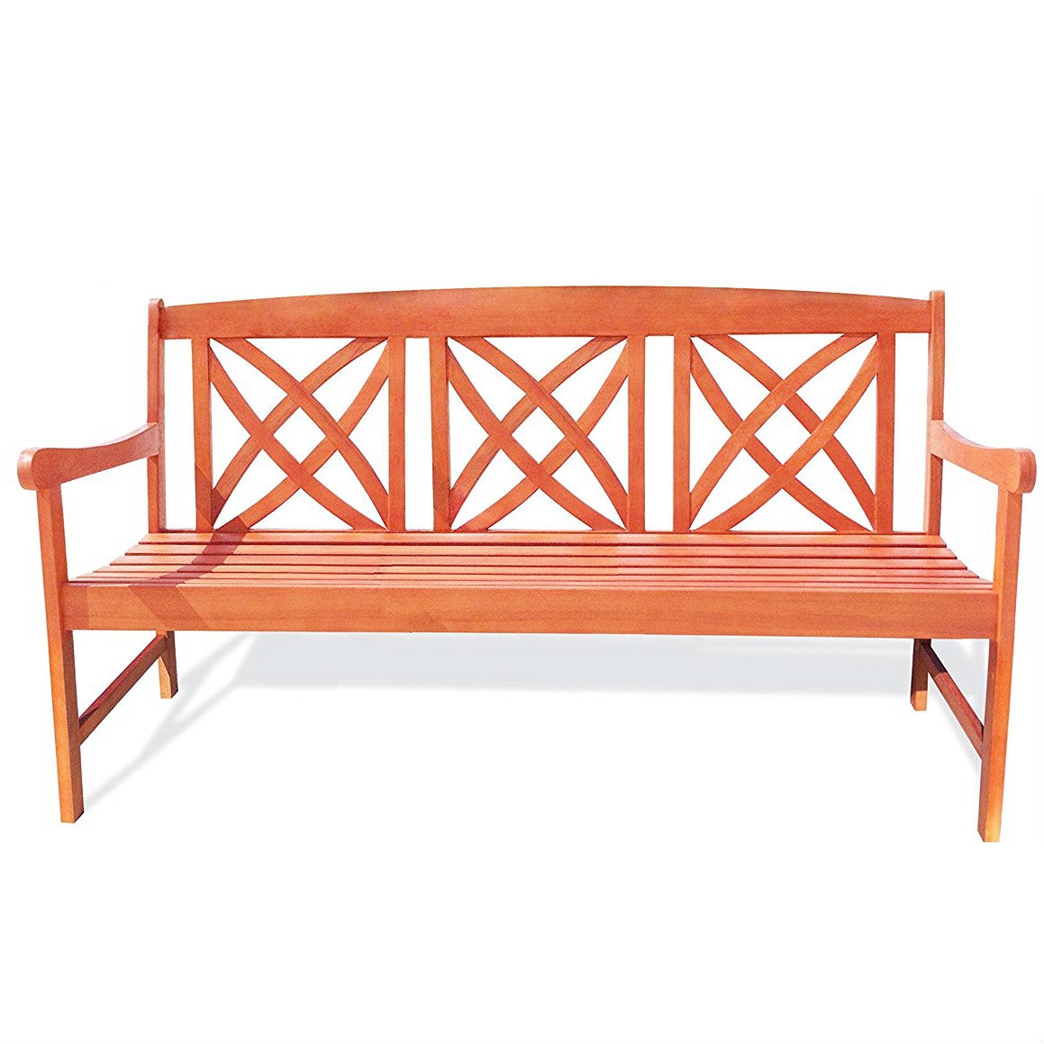 Outdoor Weather Resistant Eucalyptus Wood 5 Ft Garden Bench