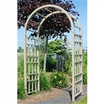 Outdoor 7.5-Ft Mocha Vinyl Arched Arbor for Garden  Made in USA