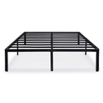 Twin size Modern Round Edge Black Metal Platform Bed Frame