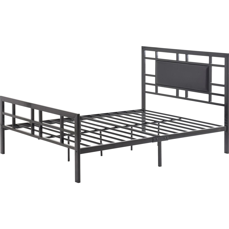 Full size Modern Classic Metal Platform Bed Frame with Black ...