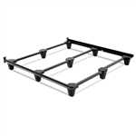 Heavy Duty Metal Bed Frame in Charcoal Finish Adjusts to Size Full Queen King and California King
