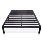 Full size Metal Platform Bed Frame with 3.86 inch Wide Heavy Duty Steel Slats