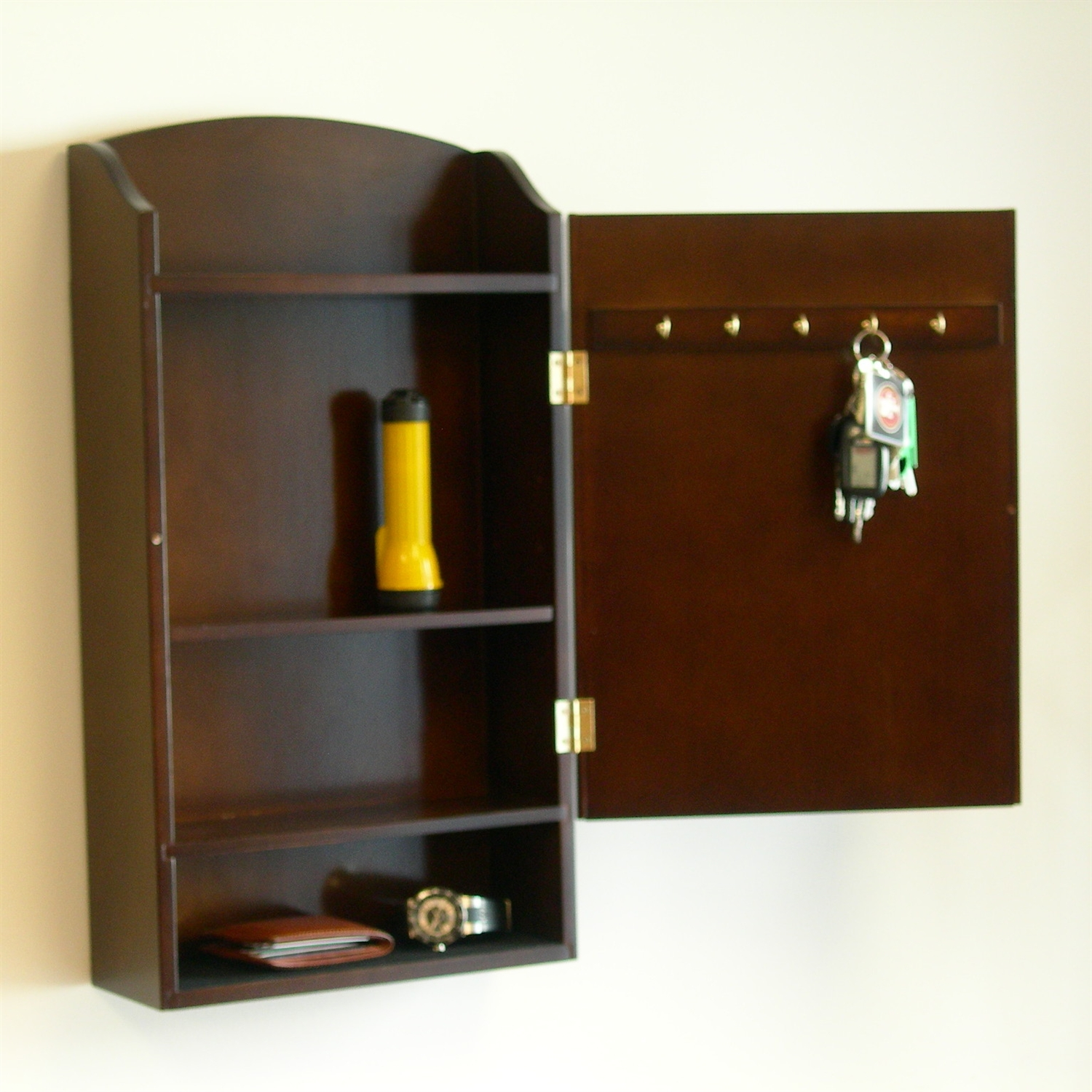 Retail Price: $169.00 - Door / Wall Mount Organizer Letter Holder Mail Sorter In Dark