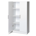 White Storage Cabinet Utility Garage Home Office Kitchen Bedroom