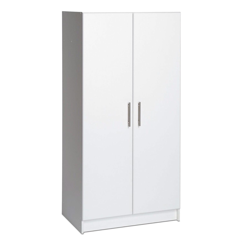 White 2 Door Wardrobe Cabinet With