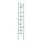 6-Ft High Narrow Garden Trellis in Metal Sprouting Twig Leaf