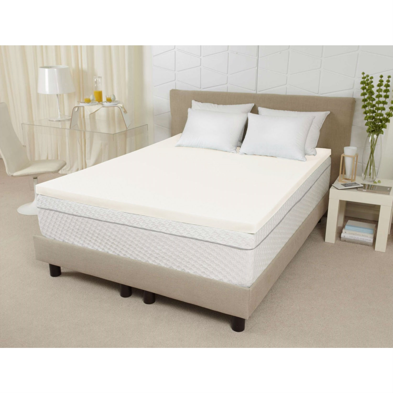 Queen size 3-inch Thick Ventilated Memory Foam Mattress ...