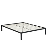 Queen size Steel Metal Platform Bed Frame with Wood Slats