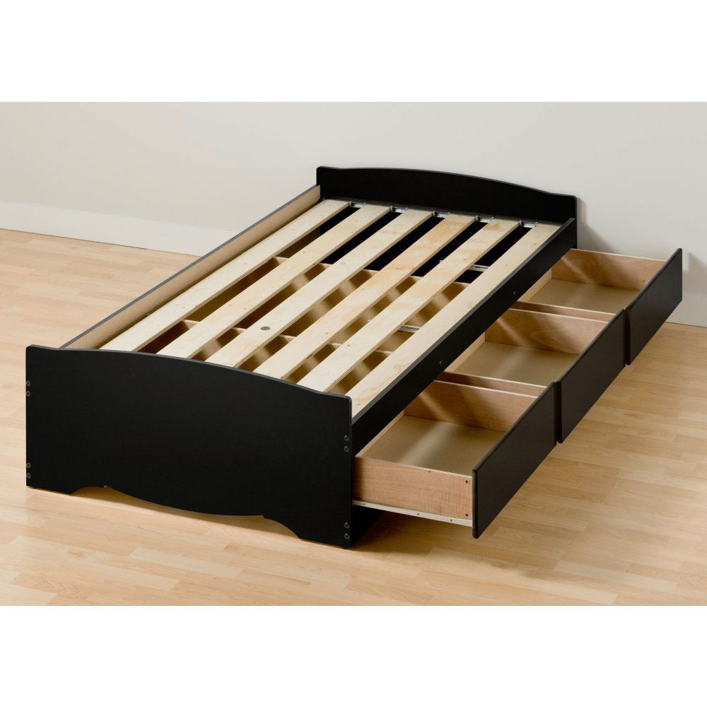 retail price 44900 - Twin Bed Frame With Drawers
