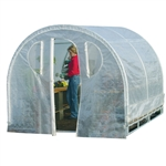 Polytunnel Cold Frame Style Greenhouse (8' x 8')