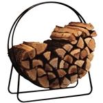 圆形圆英寸钢箍木柴存储架