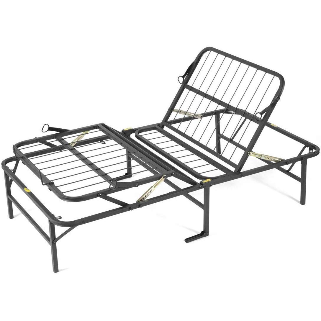 Twin XL Metal Platform Bed Frame Manual Adjustable Bed ...