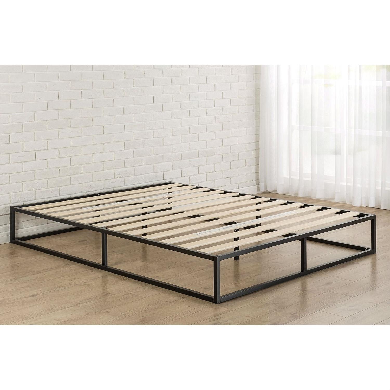 Queen Size Modern 10 Inch Low Profile Metal Platform Bed