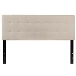 Queen size Beige Taupe Fabric Upholstered Panel Headboard