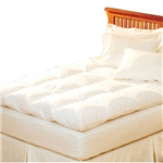 Queen size Feather Bed Topper with 100-Percent Cotton Quilted Baffle Box Design