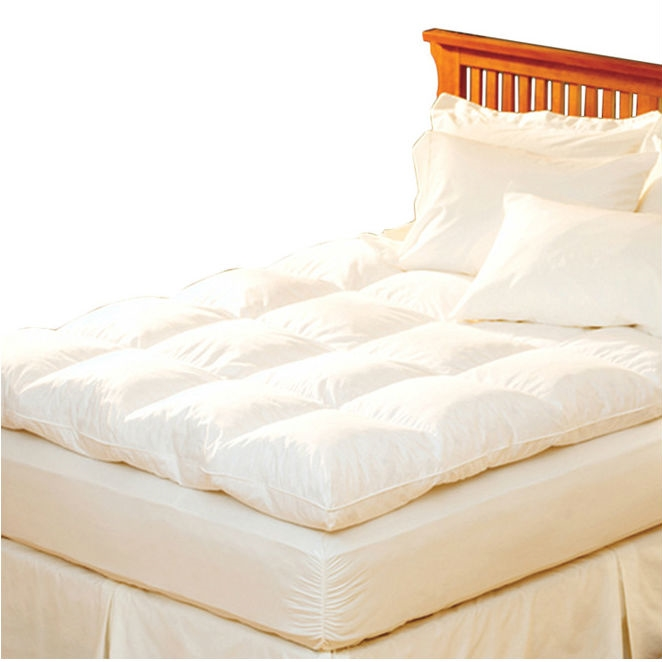 queen feather bed Queen size Feather Bed Topper with 100 Percent Cotton Quilted  queen feather bed