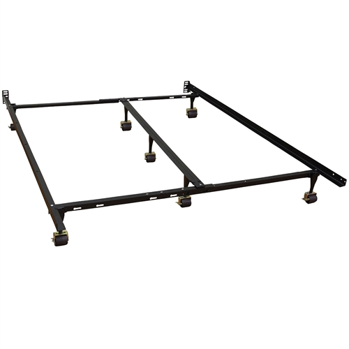 Queen Size Heavy Duty 7 Leg Metal Bed Frame With Locking