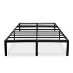 Queen size Modern Heavy Duty Black Metal Platform Bed Frame