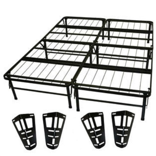 Queen Size Metal Platform Bed Frame With Headboard And