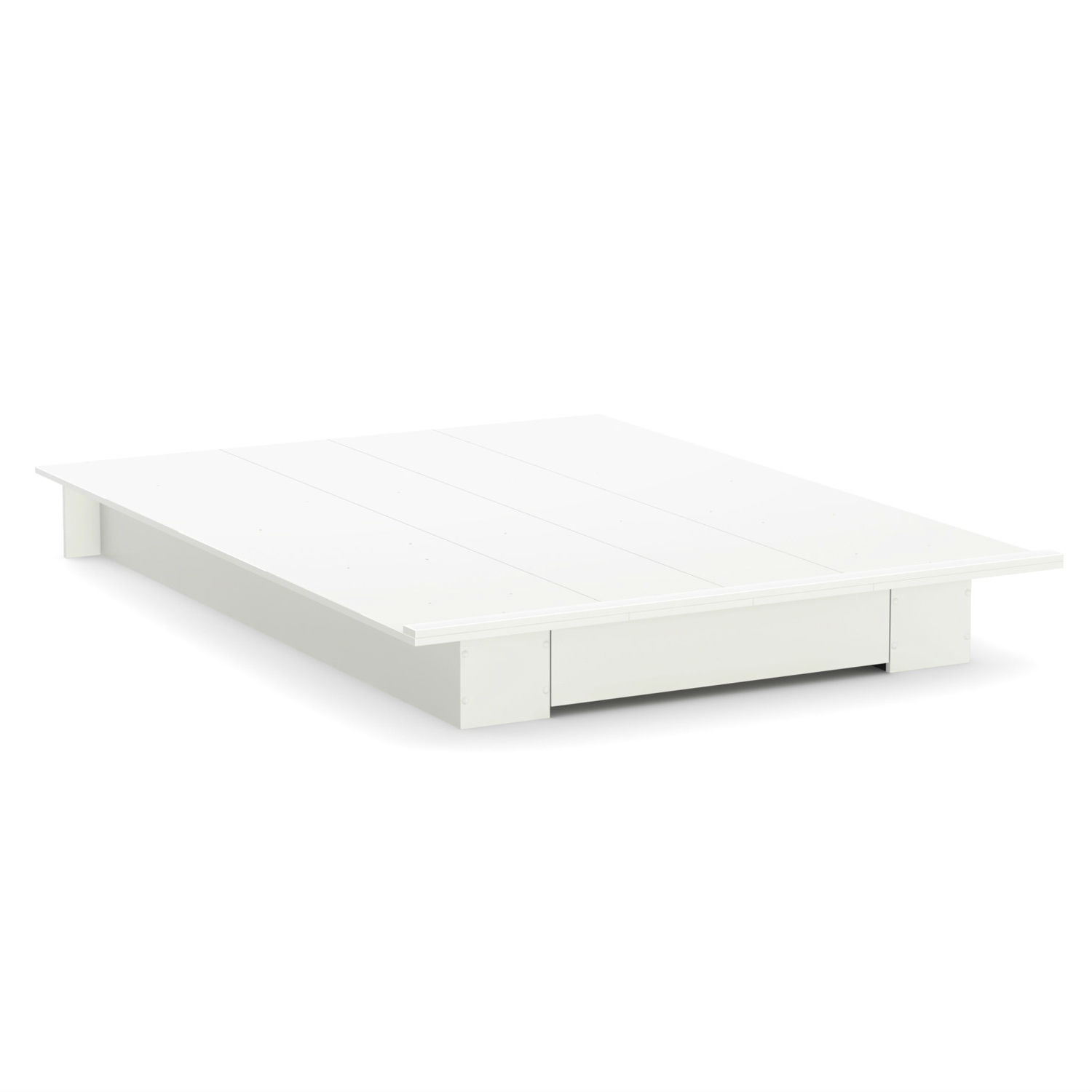 queen size white modern platform bed frame with bottom storage  - retail price