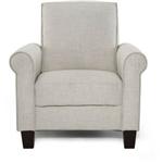 灰褐色棕褐色亚麻美式客厅扶手椅