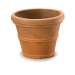 12-inch Diameter Round Planter in Rust color Weather Resistant Poly Resin Plastic
