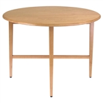 Round Drop Leaf Dining Table in Light Oak Wood Finish