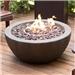 英寸圆形Enviro石制火坑碗,带丙烷储物箱隐藏式桌子