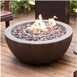 28-inch Round Enviro Stone Fire Pit Bowl with Propane Tank Hideaway Table