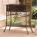 Elevated Wrought Iron Metal Plant Planter Stand in Bronze