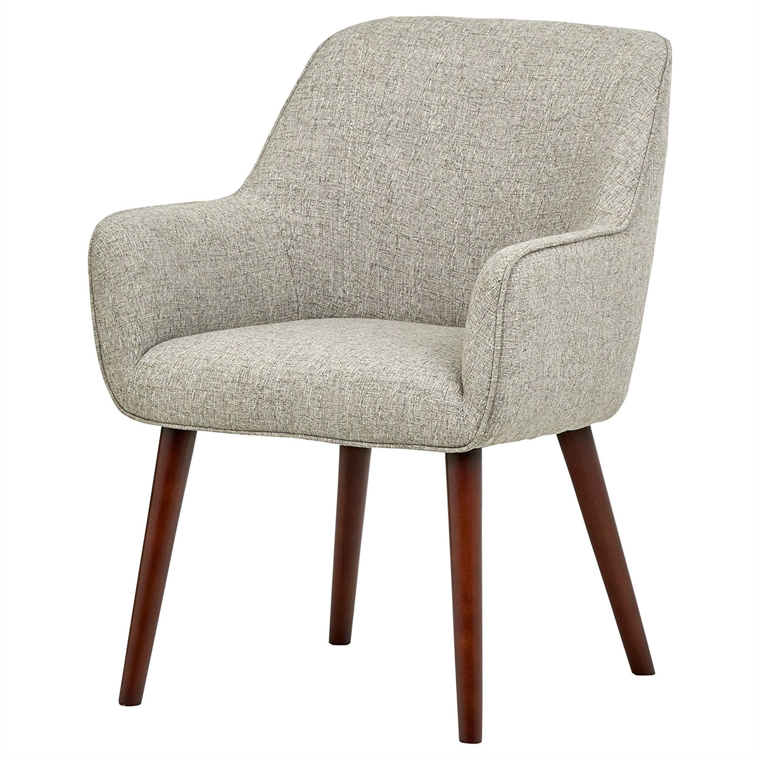 Mid Century Style Modern Accent Dining Chair With Wood Legs And