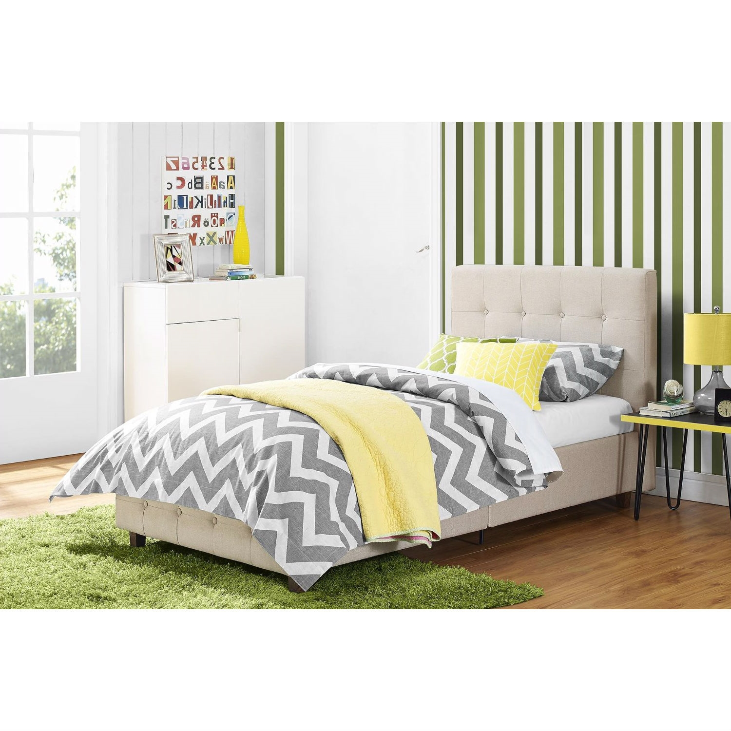 furnitue homebodys bedroom grey headboard bed tufted upholstered button linen with platform