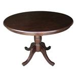 Rich Mocha的圆英寸实木厨房餐桌
