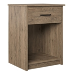 Bedroom 1-Drawer Nightstand End Table in Light Oak Wood Finish