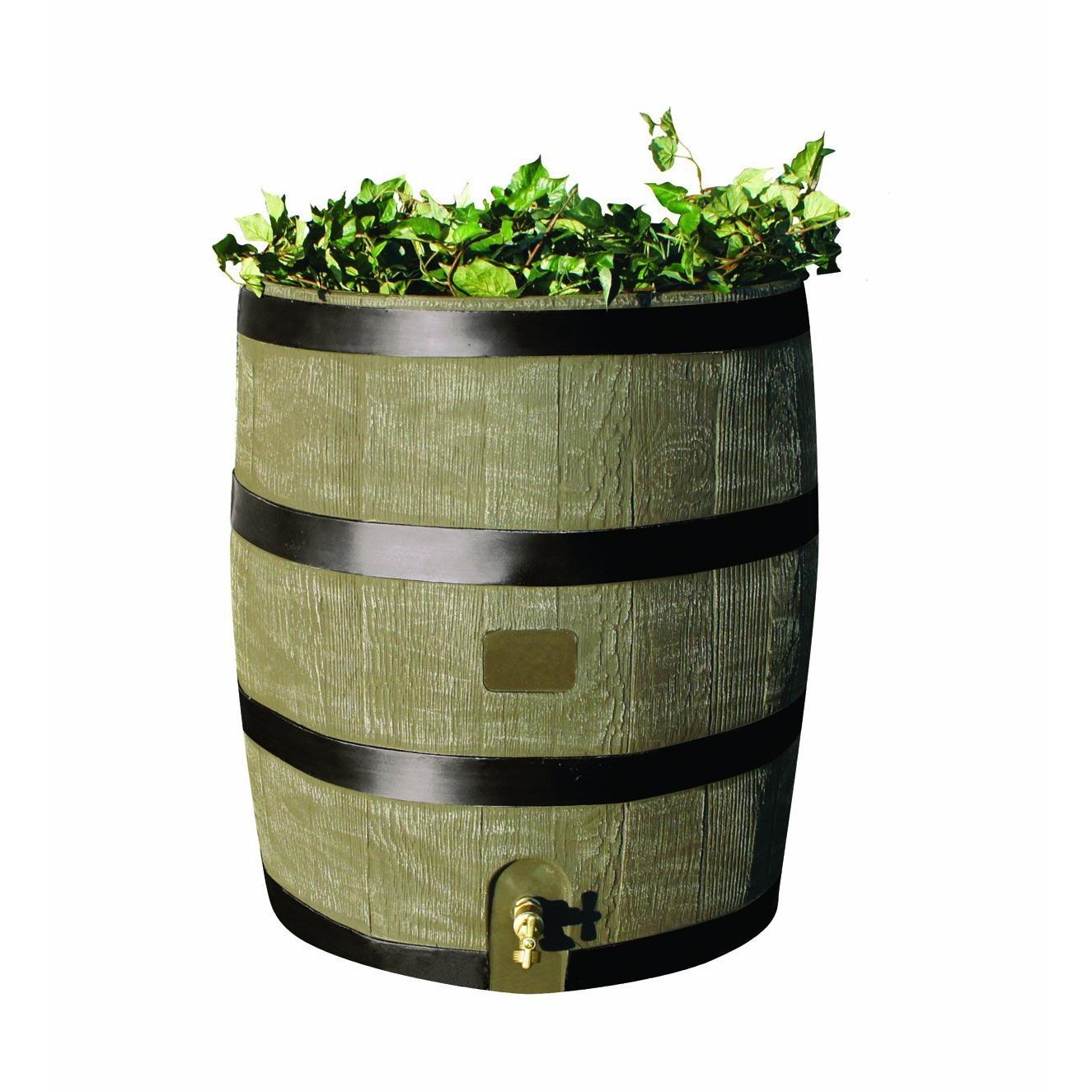 2-in-1 Rain Barrel Planter