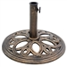 Bronze Finish Cast Iron Round Umbrella Stand Base