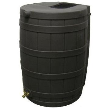 50-Gallon Rain Wizard Rain Barrel in Black