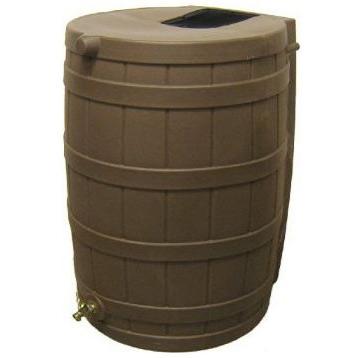 50-Gallon Rain Wizard Rain Barrel in Oak
