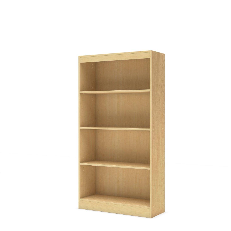 4-Shelf Bookcase in Natural Maple Finish