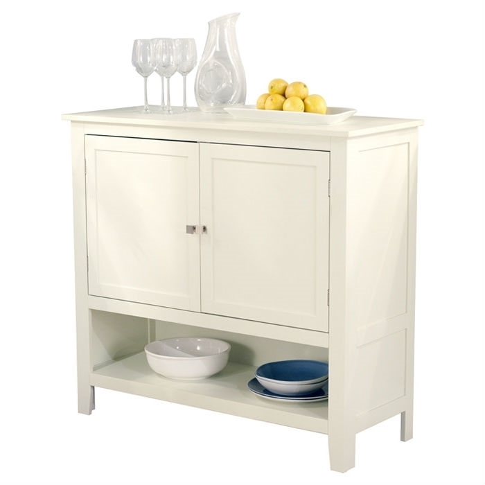 Kitchen Dining Storage Cabinet Sideboard Buffet Server In Antique White
