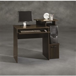 40-inch Wide Dark Wood Computer Desk